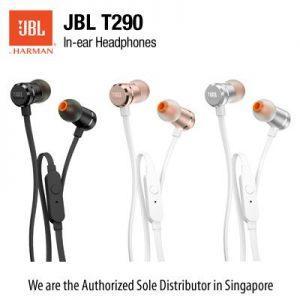 JBL Earphones T290 לבן ורוד